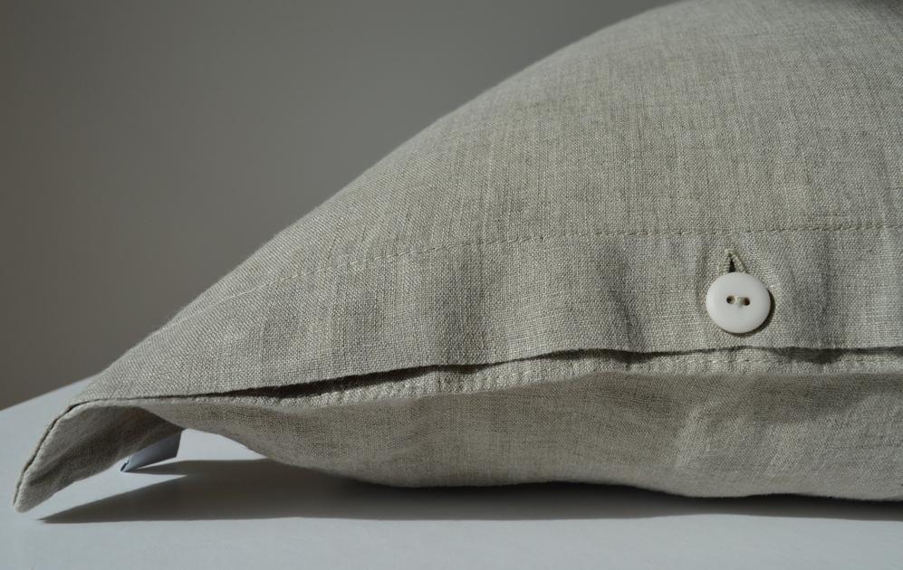 leinen bettw sche garnitur l ga ab eur naturgrau. Black Bedroom Furniture Sets. Home Design Ideas