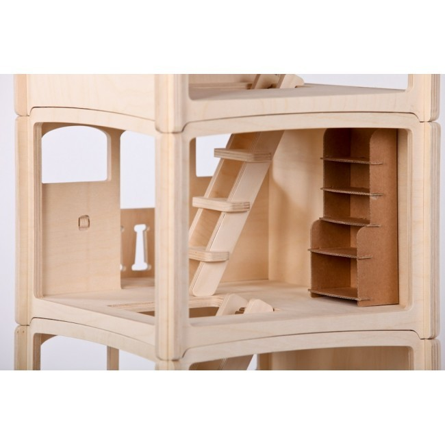 kinder puppenhaus aus holz dip dap klein 155 eur. Black Bedroom Furniture Sets. Home Design Ideas