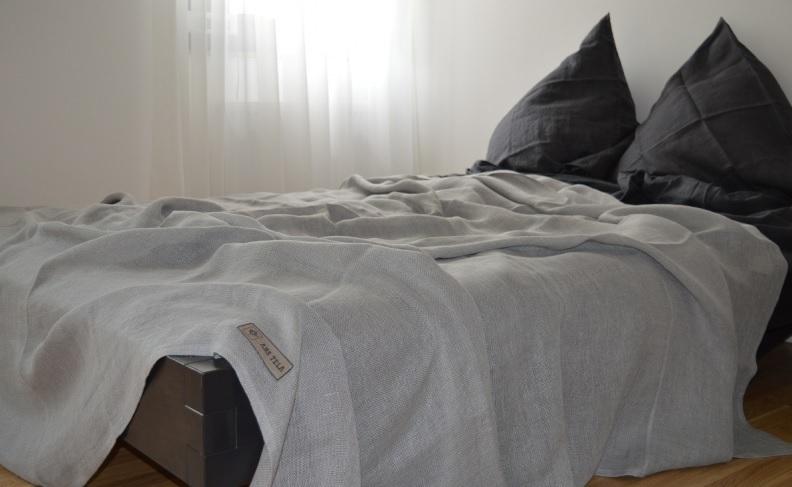 stone washed leinen bettw sche set anthrazit ab eur. Black Bedroom Furniture Sets. Home Design Ideas
