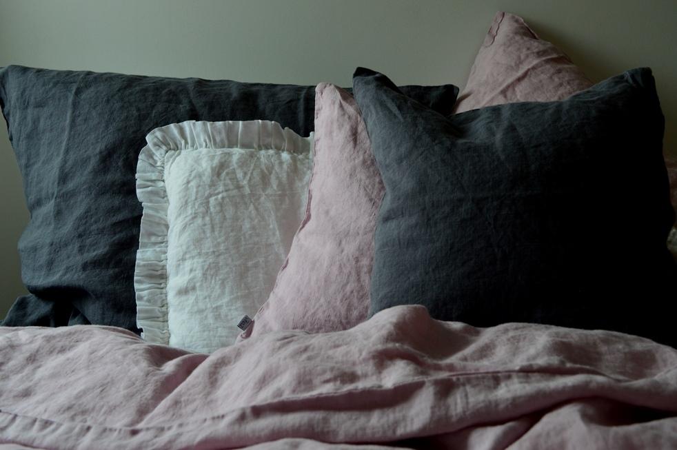 leinen bettw sche garnitur laima xxl rosa 200x 220 cm 40x 60 cm 40x 80 cm oder 80x 80 cm. Black Bedroom Furniture Sets. Home Design Ideas