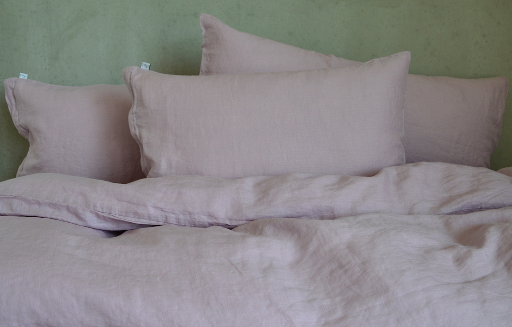 leinen kissenbezug laima altrosa 40x 60 cm 40x 80 cm oder 80x 80 cm. Black Bedroom Furniture Sets. Home Design Ideas