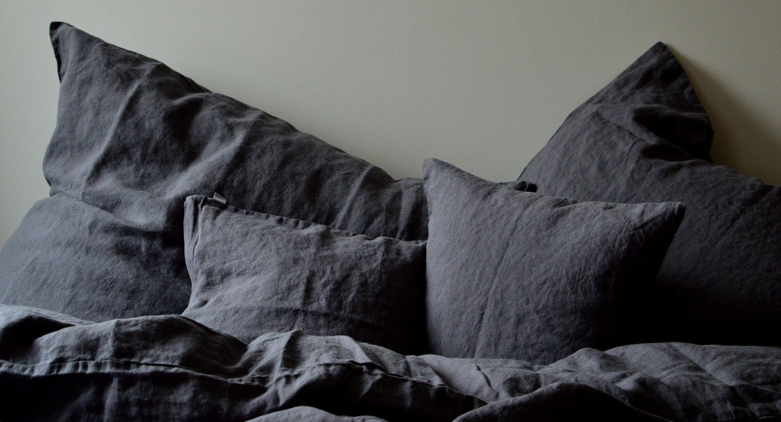 leinen kissenbezug laima dunkelgrau 40x 80 cm oder 80x 80cm. Black Bedroom Furniture Sets. Home Design Ideas