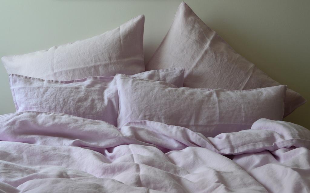 leinen bettw sche garnitur laima rosa 135x 200 cm. Black Bedroom Furniture Sets. Home Design Ideas