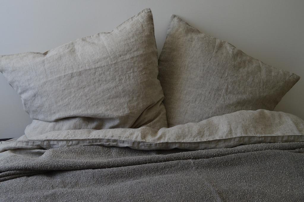 leinen bettw sche garnitur baiba natur 155x 220 cm 40x 60 cm 40x 80 cm oder 80x 80 cm. Black Bedroom Furniture Sets. Home Design Ideas