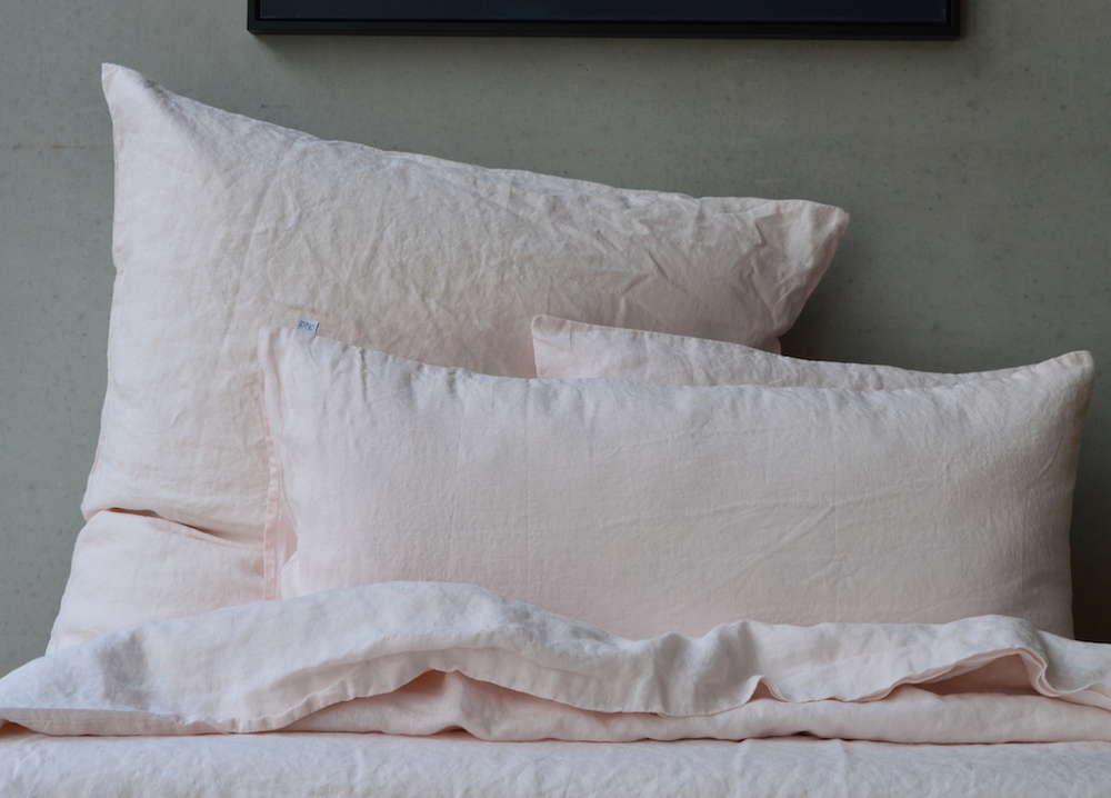 Leinen Bettwäsche Garnitur Weiß,135x 200 cm,40x 60 cm,40x 80 cm,80x 80 cm