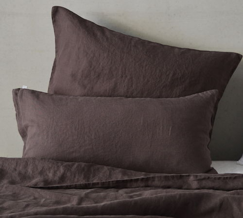 LEINEN- KISSENBEZUG LAIMA, Chocolate Brown, 40x 60 cm, 40x 80 cm, 80x 80 cm